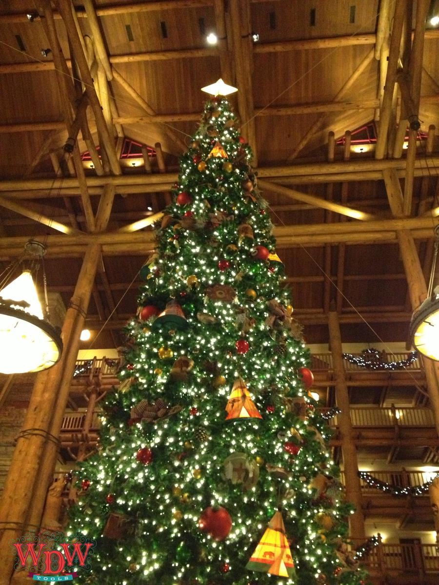 The Wilderness Lodge Christmas Tree in