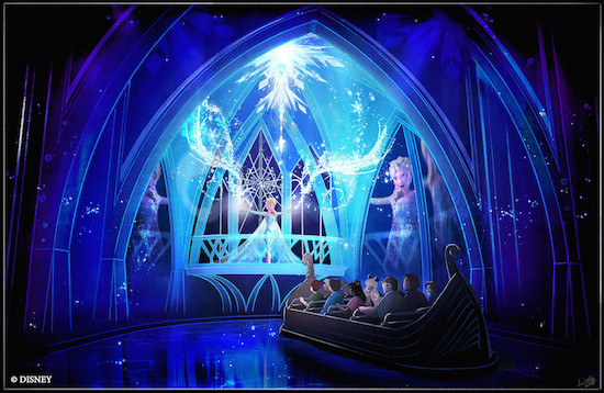 Frozen Ever After concept art. Courtesy Disney.