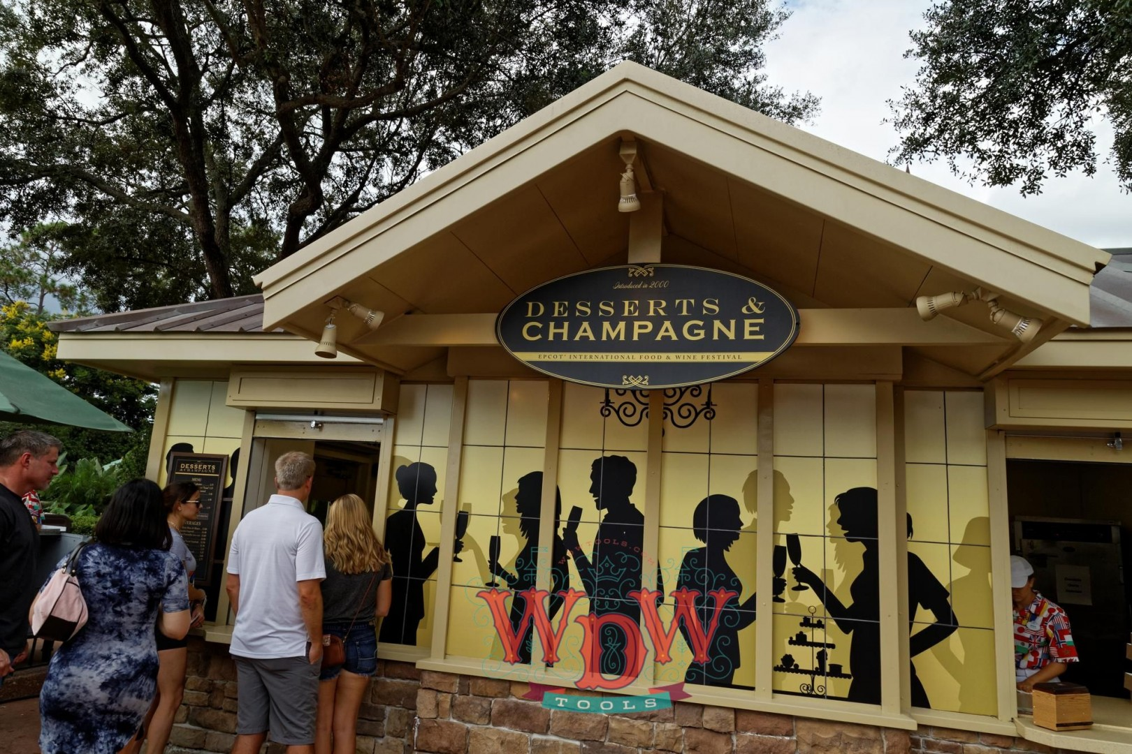 Desserts & Champagne Booth at Epcot's Food and Wine 2015