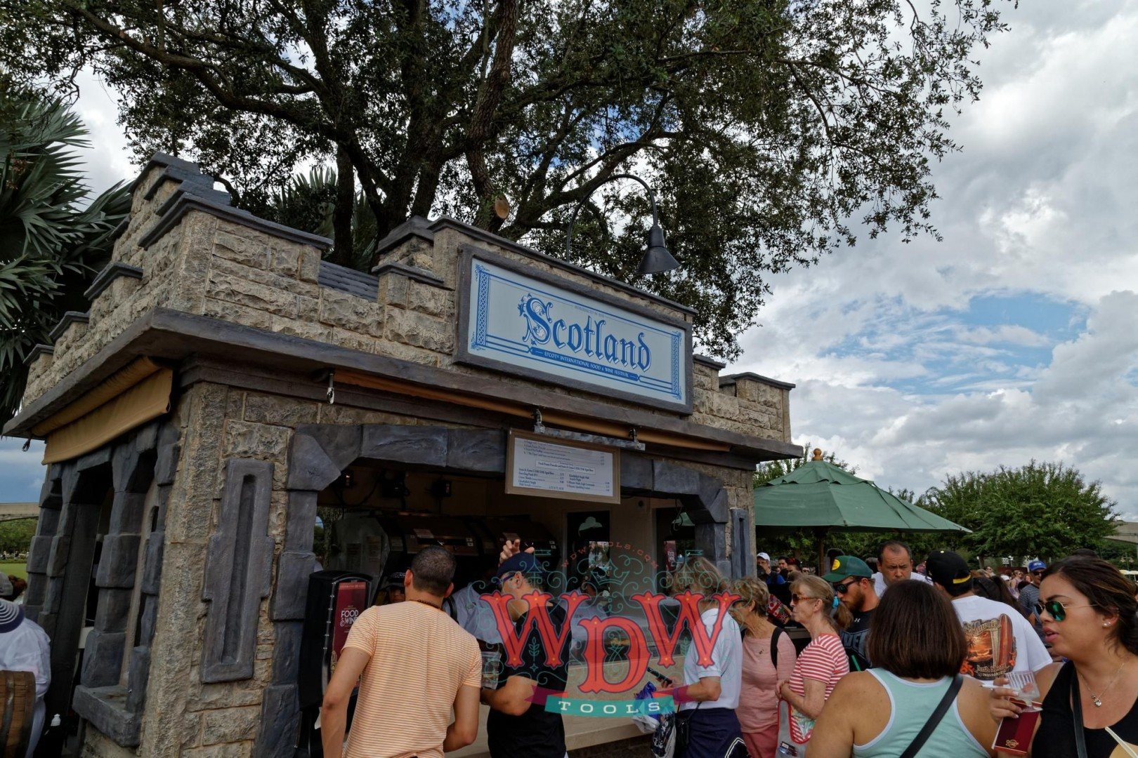 Scotland booth at Epcot's Food and Wine 2015